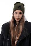Чоловіча   Жіноча шапка Intruder хакі, зимова bunny logo зелена, фото 5