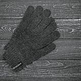 Мужская   Женская шапка Intruder серая зимняя big logo + перчатки серые, зимний комплект + ПОДАРОК, фото 3