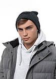 Мужская   Женская шапка Intruder серая зимняя big logo + перчатки серые, зимний комплект + ПОДАРОК, фото 6