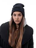 Мужская   Женская шапка Intruder серая зимняя big logo + перчатки серые, зимний комплект + ПОДАРОК, фото 7