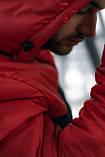 Анорак Nike красный мужской черный теплый ветровка Найк спортивная осенняя весенняя куртка, фото 5