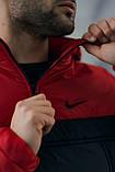 Анорак Nike красный мужской черный теплый ветровка Найк спортивная осенняя весенняя куртка, фото 6