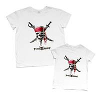 "Комплект футболок папа и сын family look ""пираты карибского моря"" Family look"