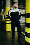 Чоловічий спортивний костюм Spirited чорний-білий Intruder + Подарунок, фото 2