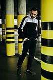 Чоловічий спортивний костюм Spirited чорний-білий Intruder + Подарунок, фото 3