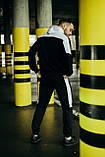 Чоловічий спортивний костюм Spirited чорний-білий Intruder + Подарунок, фото 5