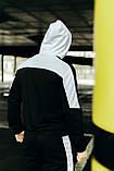 Чоловічий спортивний костюм Spirited чорний-білий Intruder + Подарунок, фото 8