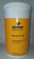 Силиконовая смазка Bechem Berusil FO 26 банка 1кг. С пищевым допуском