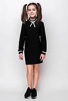 Черное детское платье для девочки в школу sh-76 134 Barbarris