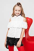 Детская блуза с открытыми плечами sh-52 140 Barbarris