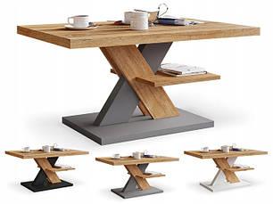 Журнальный столик iMeblowo Cross Mat 60x90x45cm, фото 2