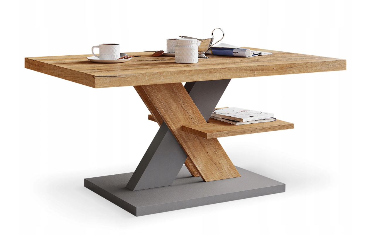 Журнальный столик iMeblowo Cross Mat 60x90x45cm