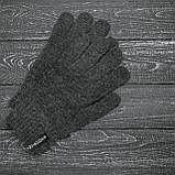 Чоловіча | Жіноча шапка Intruder сіра зимова bunny logo + рукавички сірі, зимовий комплект + ПОДАРУНОК, фото 4
