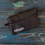 Чоловіча | Жіноча шапка Intruder сіра зимова bunny logo + рукавички сірі, зимовий комплект + ПОДАРУНОК, фото 5
