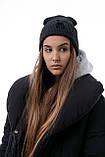 Чоловіча | Жіноча шапка Intruder сіра зимова bunny logo + рукавички сірі, зимовий комплект + ПОДАРУНОК, фото 7
