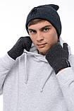 Чоловіча | Жіноча шапка Intruder сіра зимова bunny logo + рукавички сірі, зимовий комплект + ПОДАРУНОК, фото 8