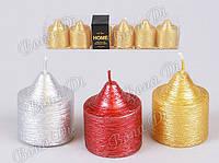 Новогодние   декоративные свечи набор 6 шт  - 3 дизайна