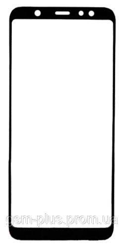 Скло дисплея Samsung Galaxy A6 Plus SM-A605 (2018, для переклеювання Black