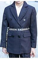 Пиджак для девочки, школьная форма (синий) 110 PaMaranchi