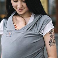 Слинг шарф из трикотажного полотна (графит) Love & Carry®