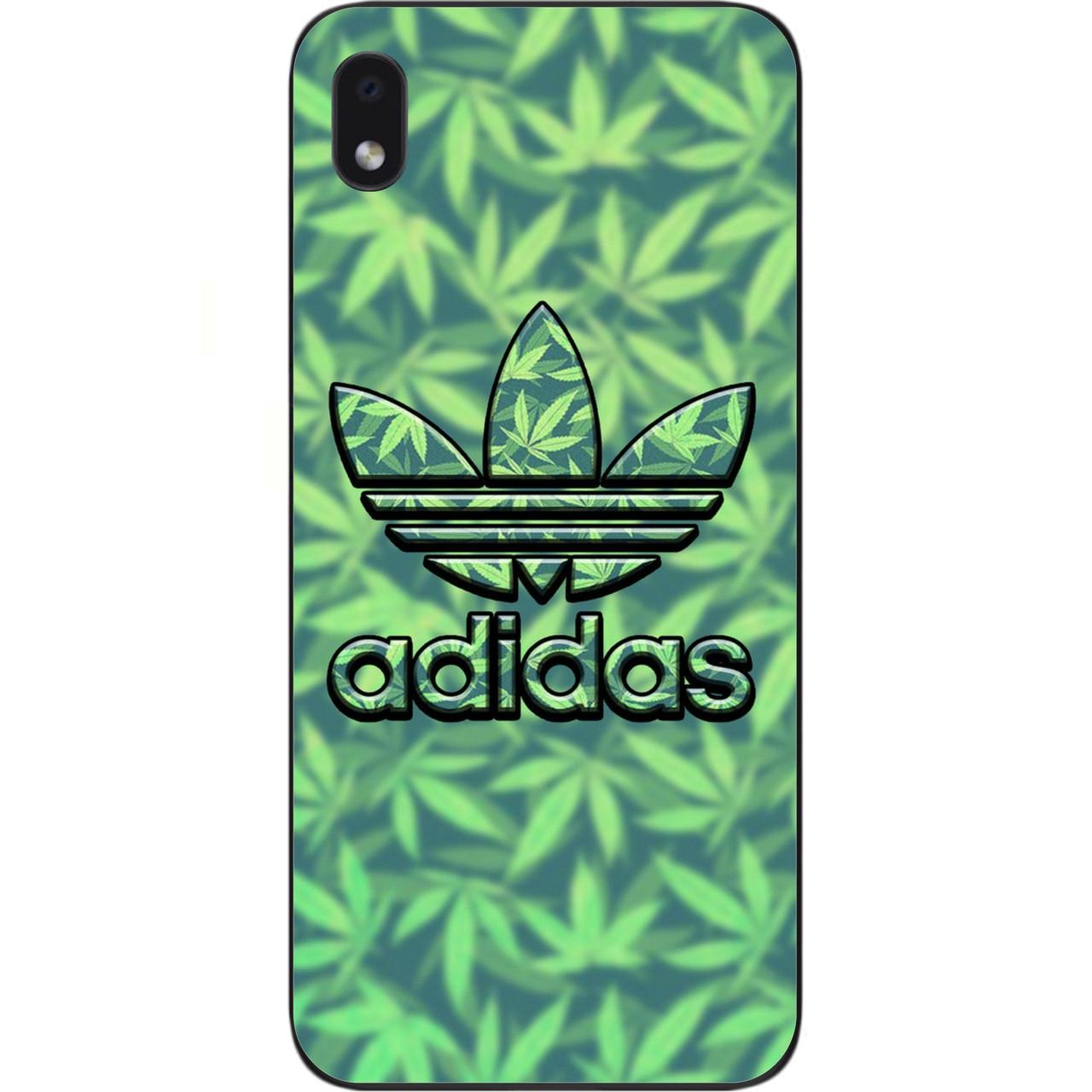 Чехол силиконовый для Samsung A01 Core Galaxy A013F с картинкой Логотип adidas