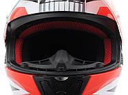 Мотошлем LS2 FF353 Rapid Grid White-Red XL  Марка Европы, фото 6