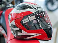Мотошлем LS2 FF353 Rapid Grid White-Red XL  Марка Европы, фото 7