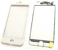 """Стекло дисплея iPhone 7 (4.7"""") для переклейки с рамкой и OCA White"""