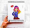 Скетчбук для маркеров Markerman с двухсторонней  бумагой