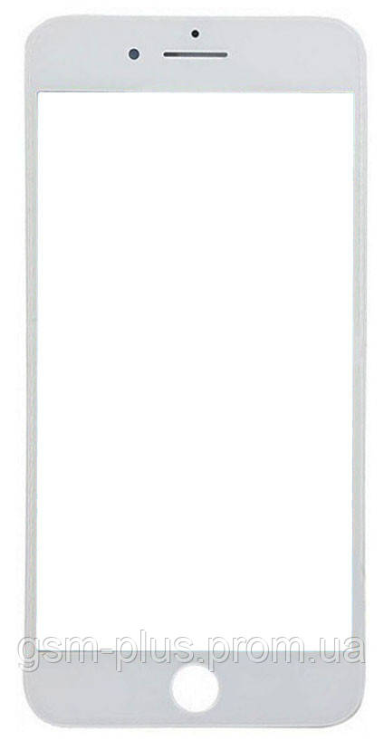 Скло дисплея (для переклеювання) iPhone 8 Plus (5.5) White з рамкою