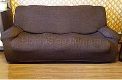 Чехол на Кресло натяжной Ноэми Nueva Textile Анте коричневый, фото 3