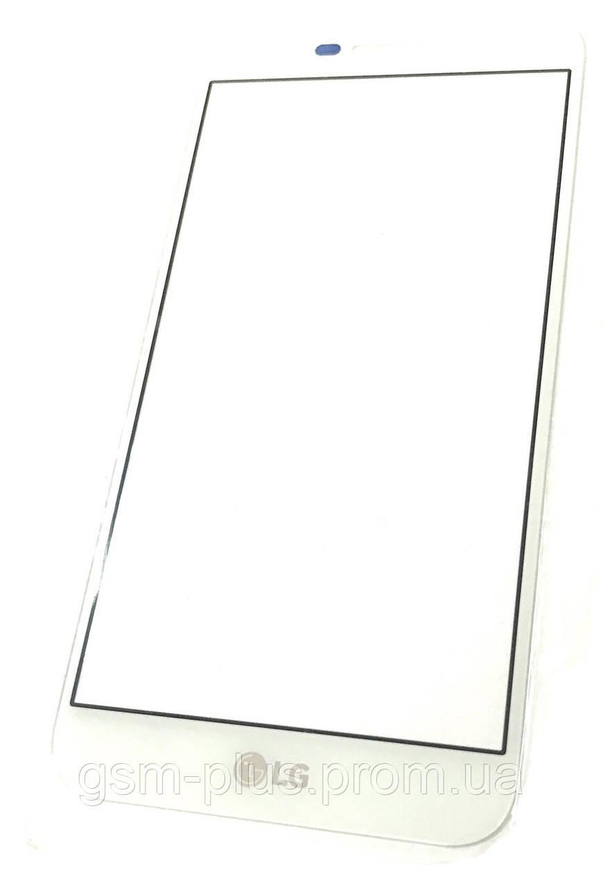 Стекло дисплея LG K10 (2017) M250 / K10 (2017) / X400 White (для переклейки)