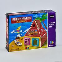 """Конструктор магнітний JH 8811 """"Будиночок"""", 32 деталі, в коробці"""