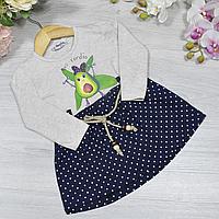 Дитяче трикотажне плаття, розмір 1-4 роки (4 од. уп. ), Червоний