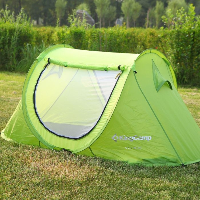 Палатка KingCamp Venice (green), двохместная палатка, палатка туристическая, палатка для отдыха