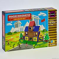 """Конструктор магнітний JH 8853 """"Школа"""", 66 деталей, в коробці"""