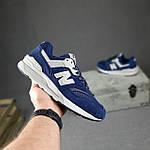 Мужские рефлективные кроссовки New Balance 997 (синие) 10380 демисезонная спортивная качественная обувь, фото 3