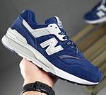 Мужские рефлективные кроссовки New Balance 997 (синие) 10380 демисезонная спортивная качественная обувь, фото 9