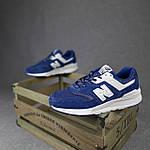 Мужские рефлективные кроссовки New Balance 997 (синие) 10380 демисезонная спортивная качественная обувь, фото 6