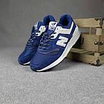 Мужские рефлективные кроссовки New Balance 997 (синие) 10380 демисезонная спортивная качественная обувь, фото 7