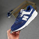 Мужские рефлективные кроссовки New Balance 997 (синие) 10380 демисезонная спортивная качественная обувь, фото 8