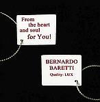 Кулон з цирконом BERNARDO BARETTI на ланцюжку Сріблястий в оксамитовому футлярі (K008), фото 6