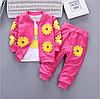 Детский спортивный костюм. Комплект детской одежды из 2 предметов,футболка с принтом и повседневные штаны.