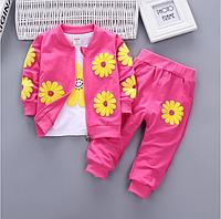 Детский спортивный костюм. Комплект детской одежды из 2 предметов,футболка с принтом и повседневные штаны., фото 1
