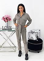 Женский вельветовый комбинезон : чёрный, серый, бирюза, красный , бежевый, джинс