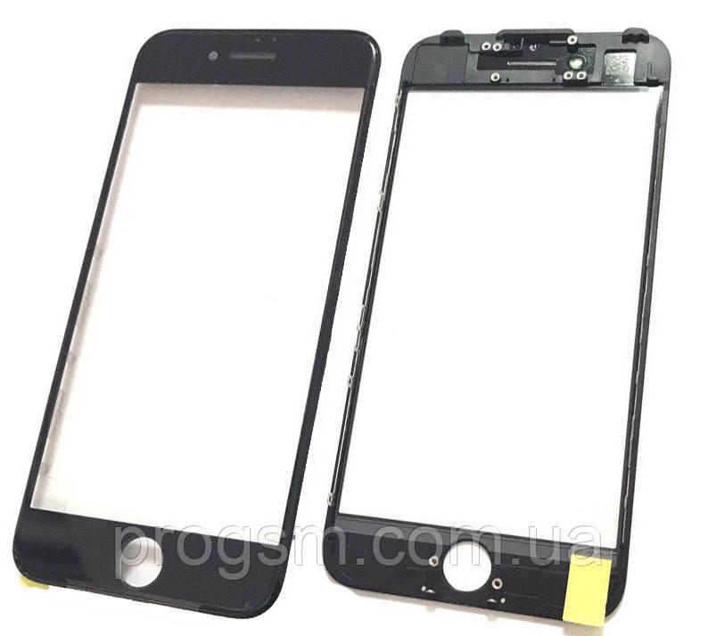 Скло дисплея iPhone 7 (4.7) для переклеювання з рамкою і OCA Black