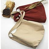 Летняя текстильная сумка. Светло-бежевая, фото 5