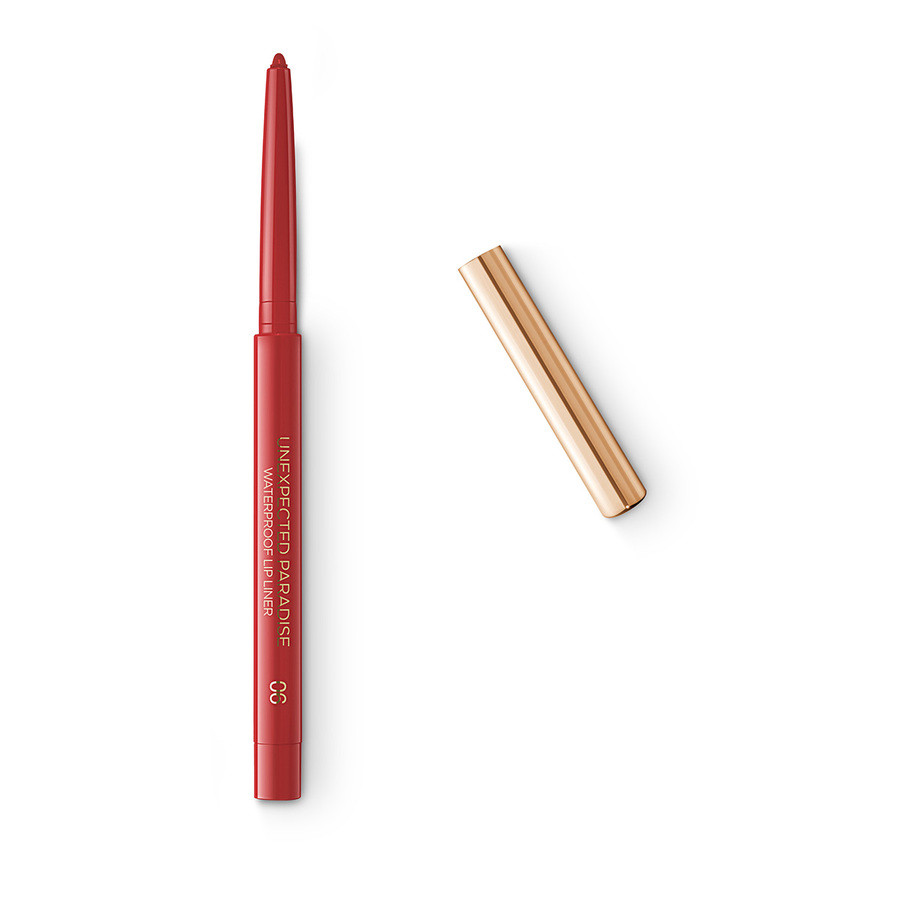 Стойкий карандаш для губ Unexpected Paradise Waterproof Lip Liner Kiko 06 Red Desire