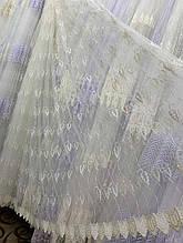 Турецкая тюль фатин кремового цвета 1666 остаток 5м