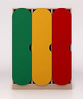 Детский шкаф в раздевалку цветной ДШР-3.1